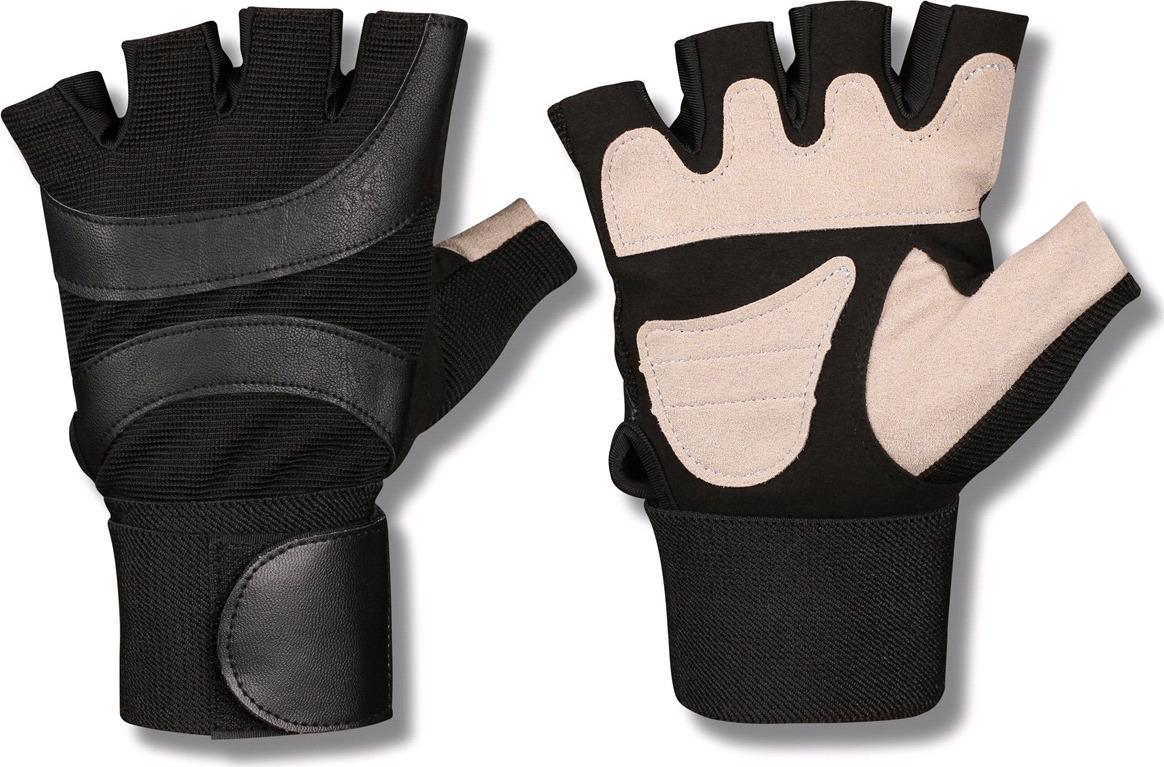 """Перчатки для фитнеса Indigo """"97838 IR"""", с широким напульсником, цвет: черно-белый, размер XL"""