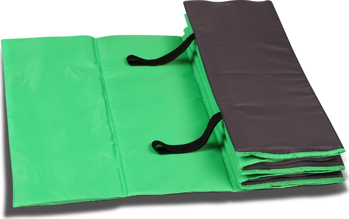 Коврик гимнастический Indigo SM-042, цвет: салатово-серый, 180 х 60 см гимнастический коврик c дугами sh 303350