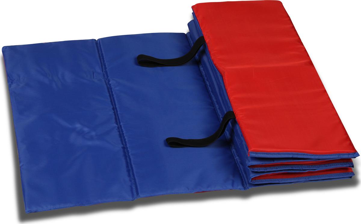 Коврик гимнастический Indigo SM-042, цвет: сине-красный, 180 х 60 см гимнастический коврик c дугами sh 303350