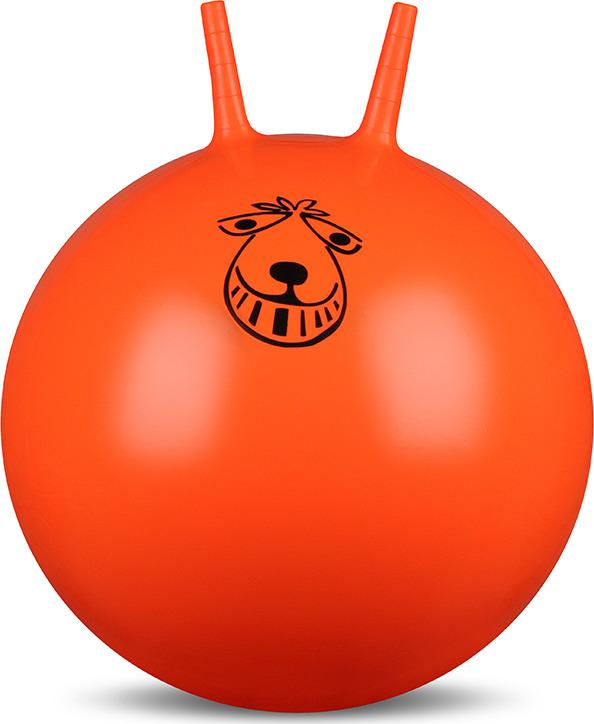 Мяч гимнастический Indigo IN004, с рожками, цвет: оранжевый, диаметр 50 см мяч попрыгун z sports с рожками