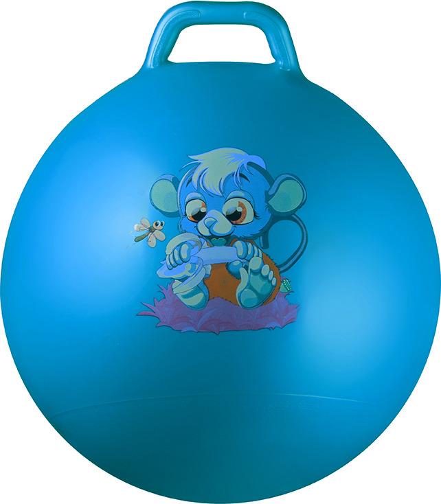 Мяч гимнастический Indigo JB2-45, с ручкой, цвет: голубой, диаметр 45 см мяч гимнастический indigo in001 цвет голубой диаметр 75 см