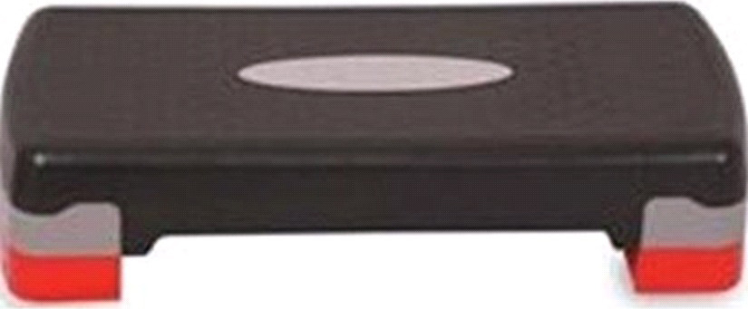 Степ-доска для аэробики Indigo, 2 уровня, цвет: черно-серый, 67 х 27 х 10/15 см