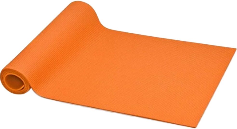 Коврик для йоги и фитнеса Indigo YG03, цвет: оранжевый, 173 х 61 х 0,3 см коврик для йоги onerun 495 4807 зеленый 173 х 61 см