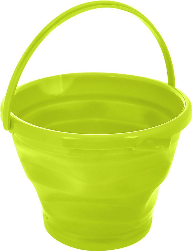 Ведро Коллекция, складное, цвет: светло-зеленый, 10 л ведро складное acecamp transparent folding bucket
