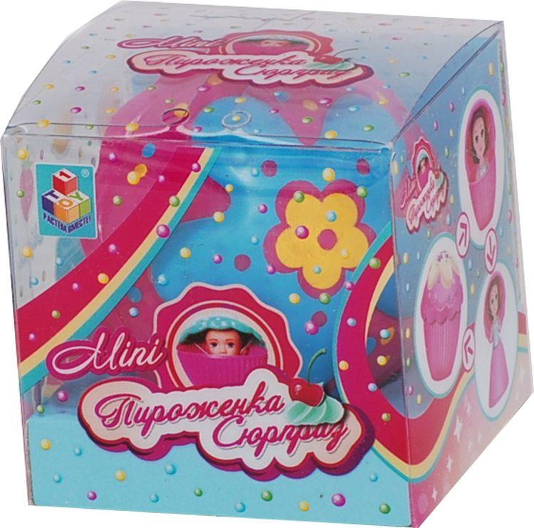 """Мини-кукла 1TOY """"Пироженка-сюрприз. Mini"""", Т11572, синий, розовый"""
