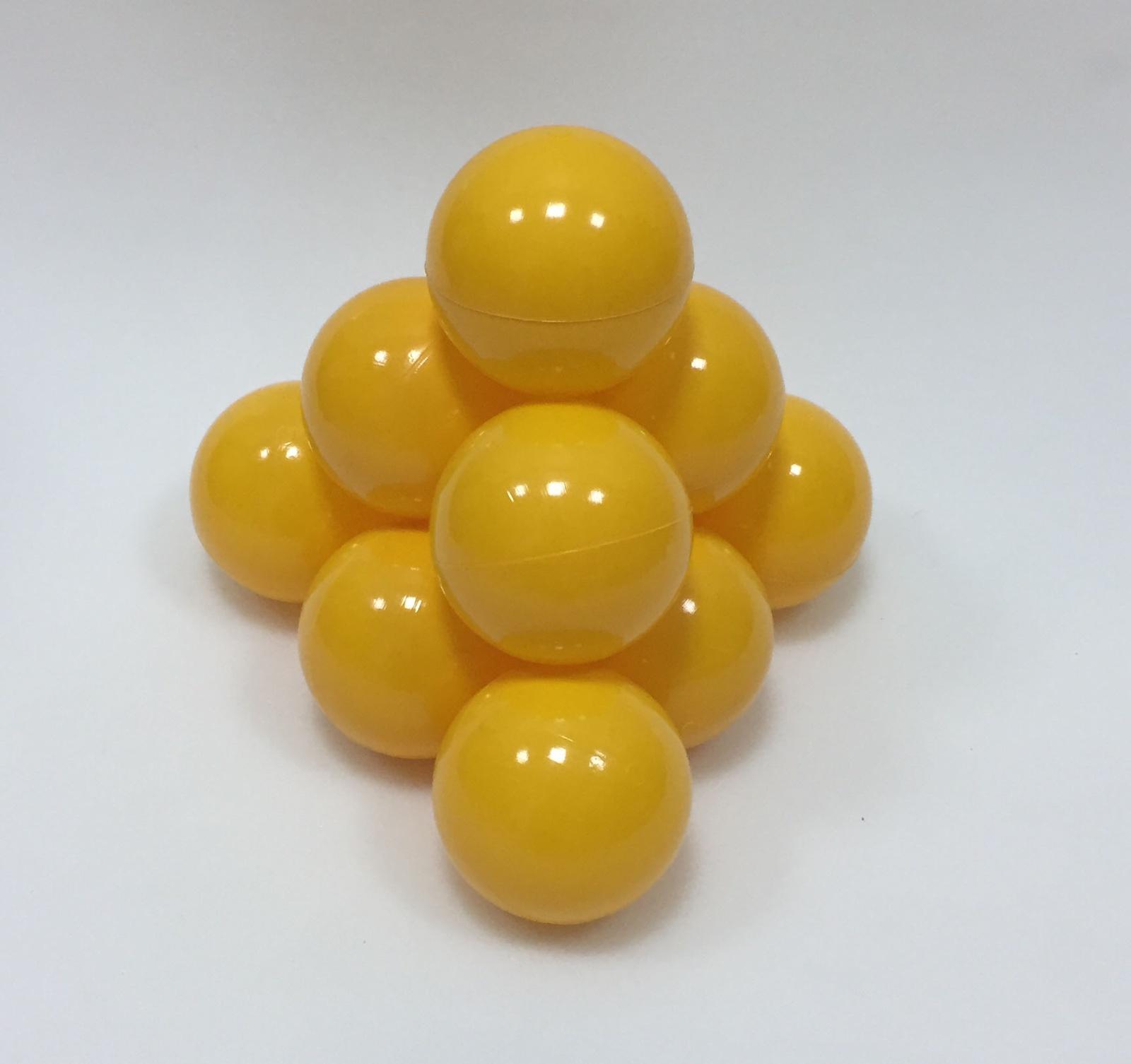 Фото - Набор шариков для игрового бассейна Hotenok, цвет: желтый, диаметр 7 см, 50 шт набор шаров шишки цвет золотой 7 см 3 шт