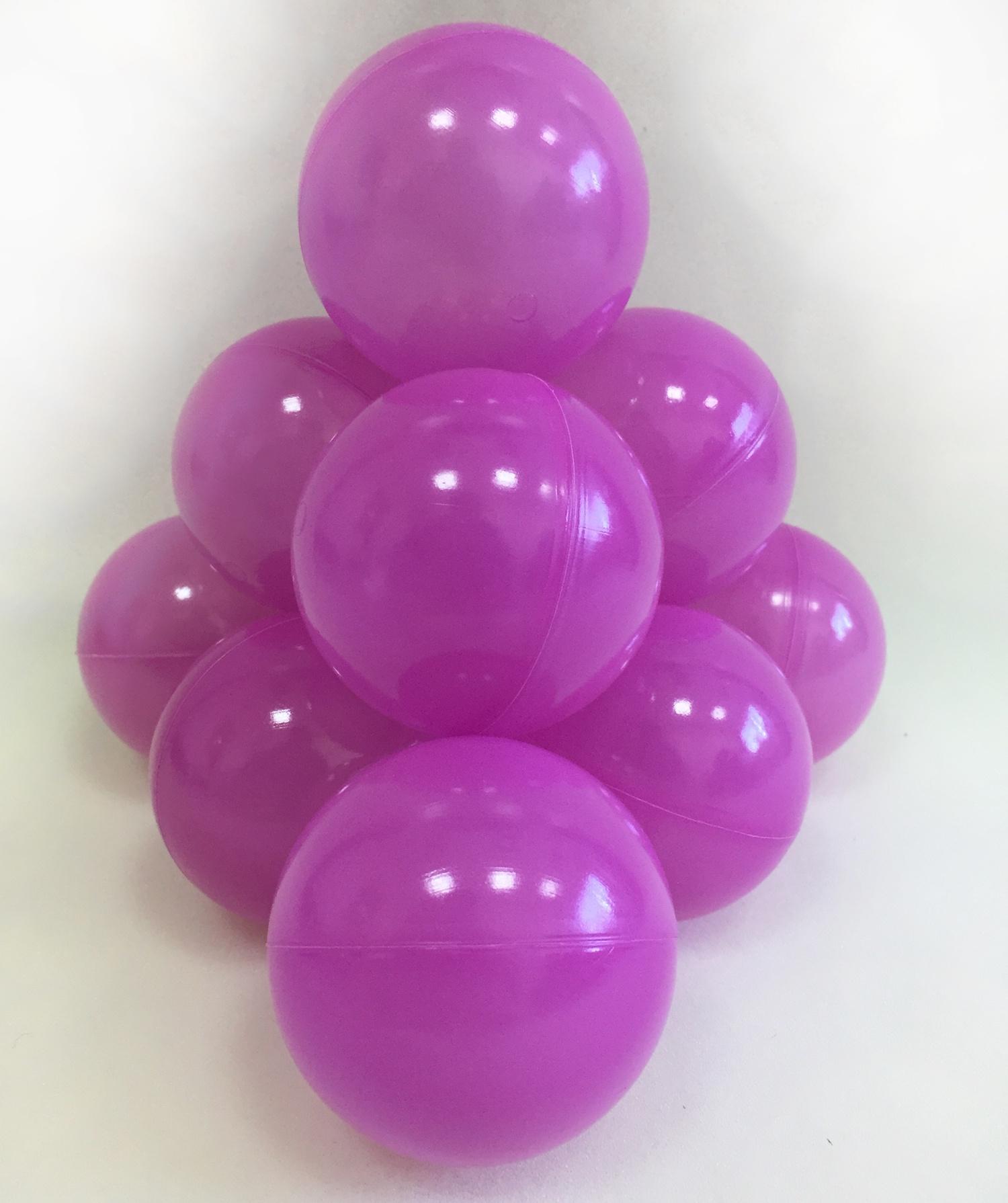 Фото - Набор шариков для игрового бассейна Hotenok, цвет: фиолетовый, диаметр 7 см, 50 шт набор шаров шишки цвет золотой 7 см 3 шт