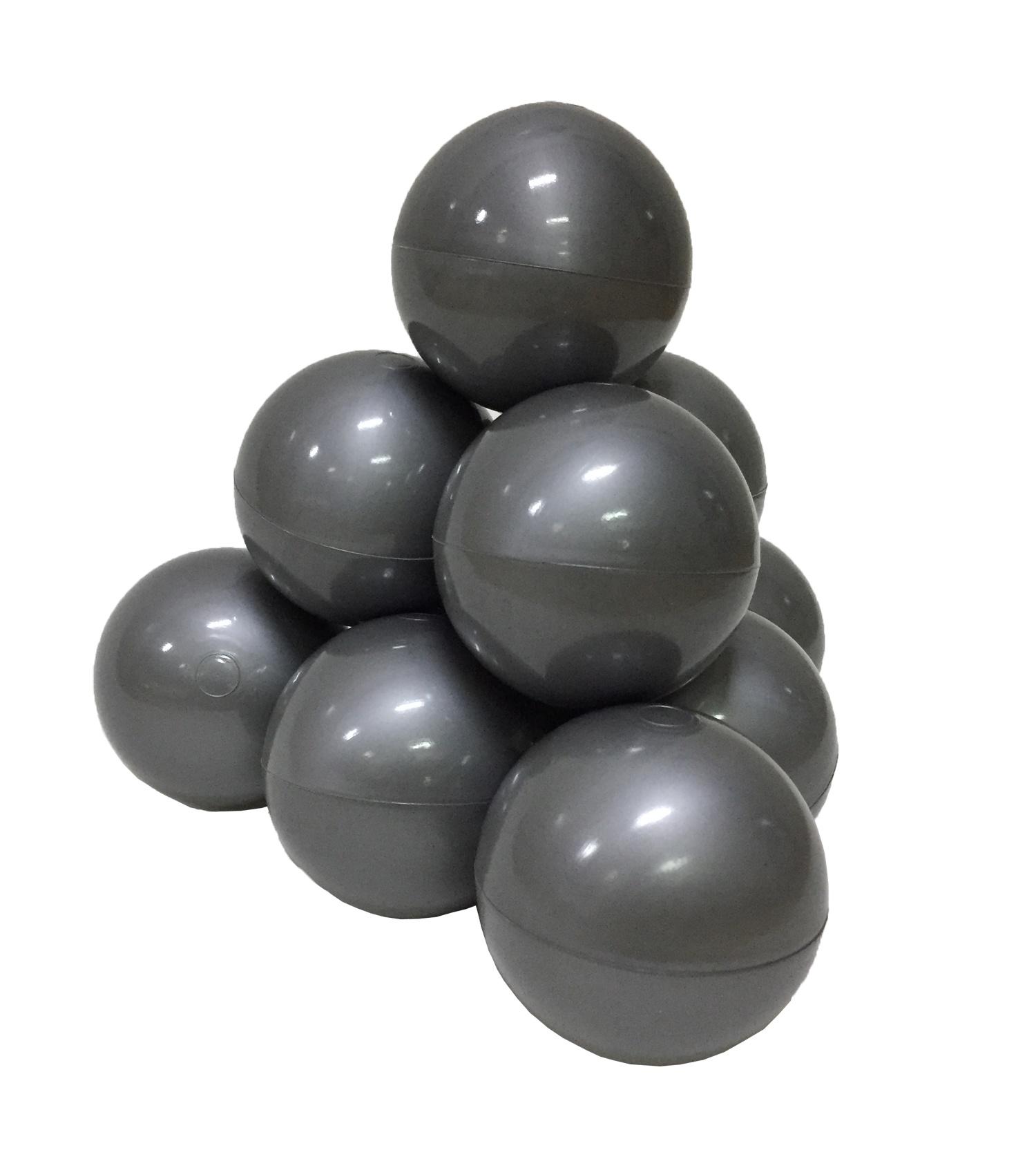 Фото - Набор шариков для игрового бассейна Hotenok, цвет: серебристый, диаметр 7 см, 50 шт набор шаров шишки цвет золотой 7 см 3 шт