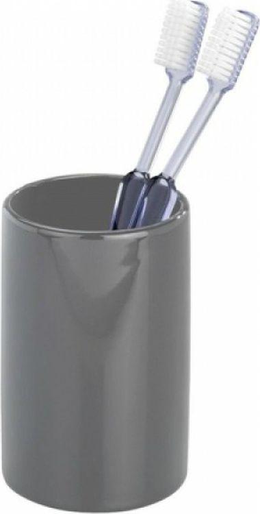 Стакан для ванной комнаты Wenko Polaris, цвет: серый цены