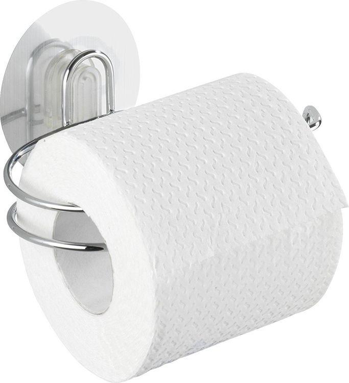 цена Держатель для туалетной бумаги Wenko Static-Loc, цвет: серебристый онлайн в 2017 году