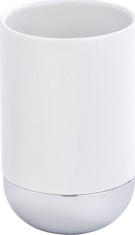 Стакан для ванной комнаты Wenko Melfi, цвет: белый цены