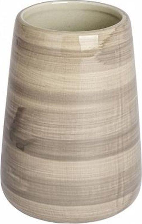 Стакан для ванной комнаты Wenko Pottery, цвет: коричневый цена и фото