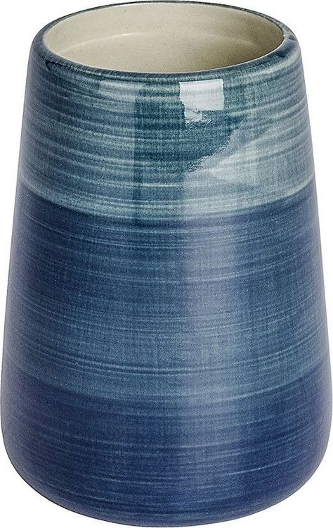 Стакан для ванной комнаты Wenko Pottery, цвет: синий цены