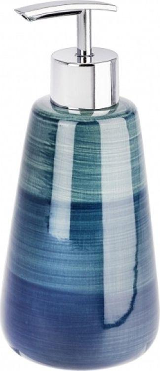 Диспенсер для мыла Wenko Pottery, цвет: синий