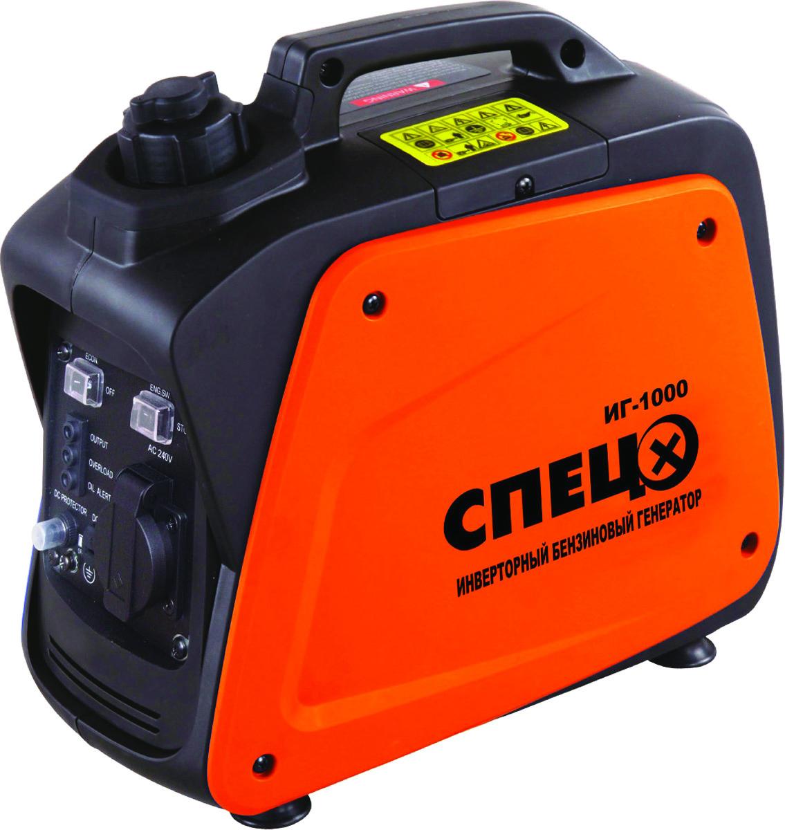 Генератор бензиновый инверторный Спец-ИГ1000, бак 2,1 л генератор бензиновый hitachi e24sc