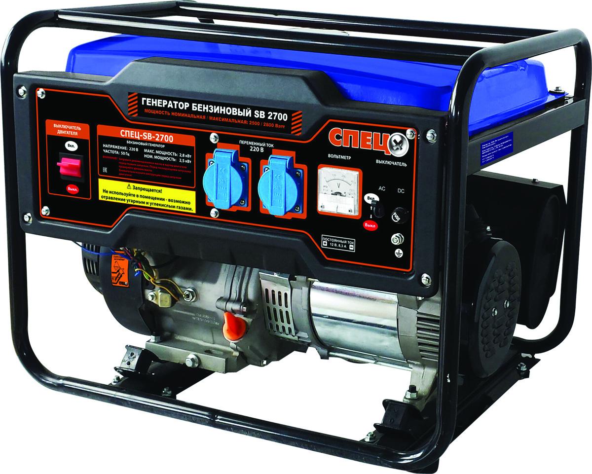 Генератор бензиновый Спец SB-2700, бак 15 л генератор бензиновый masteryard mgv 3000re
