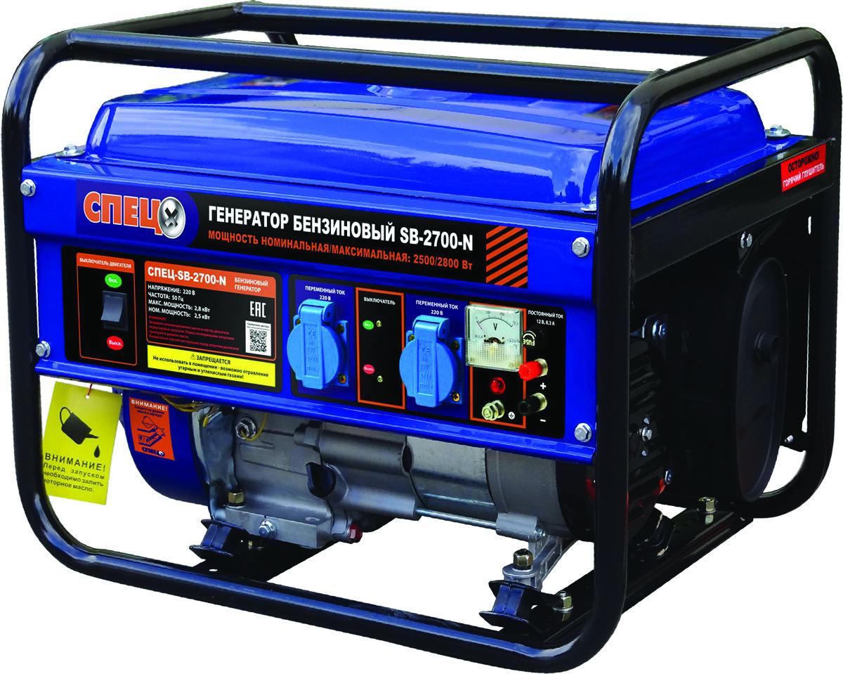 Генератор бензиновый Спец SB-2700-N, бак 15 л цена