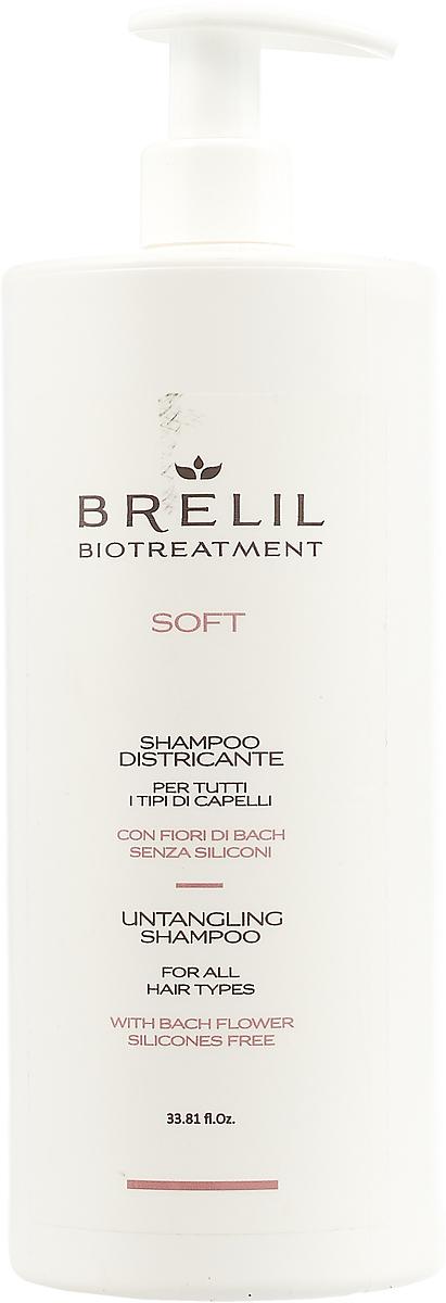 Brelil Bio Traitement Soft Untangling Shampoo Шампунь для непослушных волос, 1000 мл цена 2017