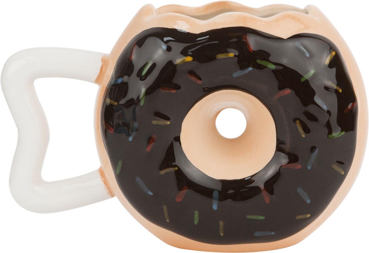 Кружка Kawaii Factory Пончик, цвет: коричневый, 500 мл колье kawaii factory metal цвет синий kw091 000110