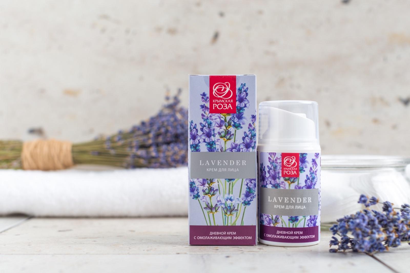 Крем для ухода за кожей Крымская роза Крем Lavender для лица дневной с омолаживающим эффектом, 50 мл Крымская роза