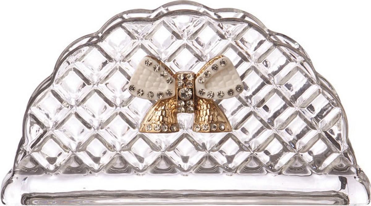Салфетница Муза Даймонд, с бантиком, 14 х 4,5 х 7 см банка для специй муза с ложкой 7 х 7 х 12 см