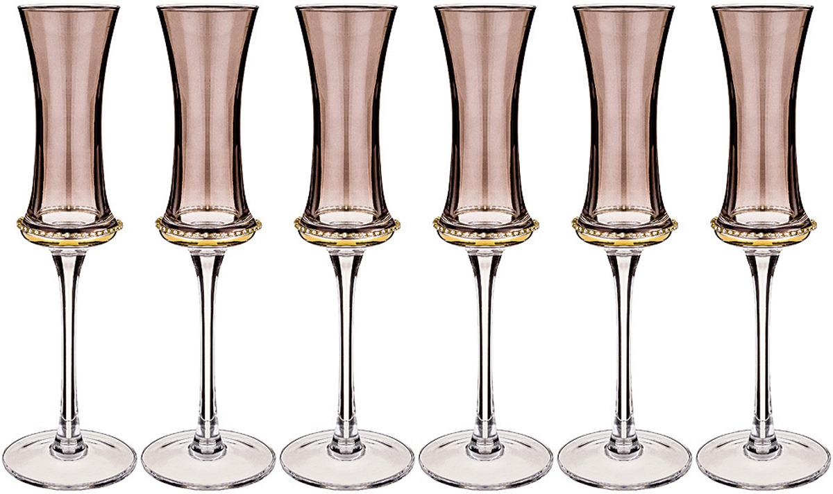 Набор бокалов для шампанского Муза Грей, 130 мл, 6 шт п грей р грэхем радиопередатчики
