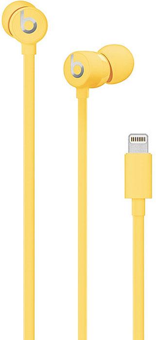 Наушники Beats urBeats3 Earphones with Lightning Connector, yellow гарнитура beats urbeats3 вкладыши желтый проводные