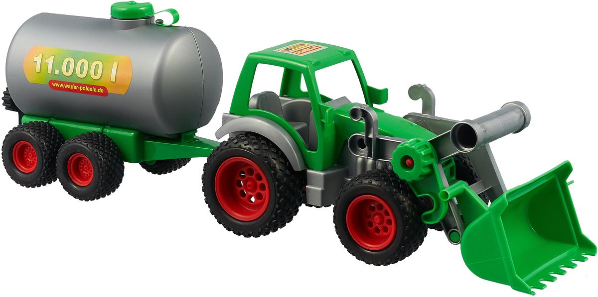 Трактор-погрузчик Полесье Фермер-техник, с цистерной, цвет в ассортименте трактор полесье трактор погрузчик умелец оранжевый 159238