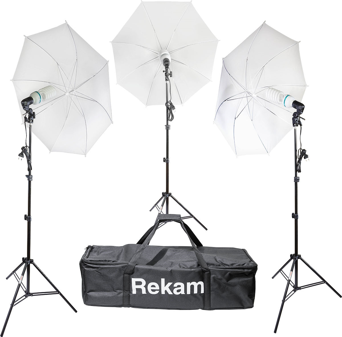 Комплект флуоресцентных осветителей Rekam CL-465-FL3-UM Kit & CL-465-FL3-UM Kit, белый, черный комплект флуоресцентных осветителей rekam cl 435 fl3 sb boom kit