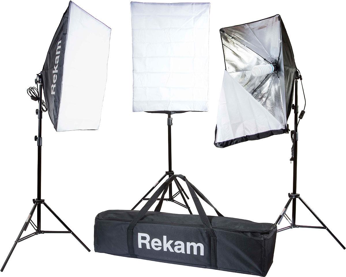 Комплект флуоресцентных осветителей Rekam CL-375-FL3-SB Kit & CL-375-FL3-SB Kit, Black комплект флуоресцентных осветителей rekam cl 435 fl3 sb boom kit