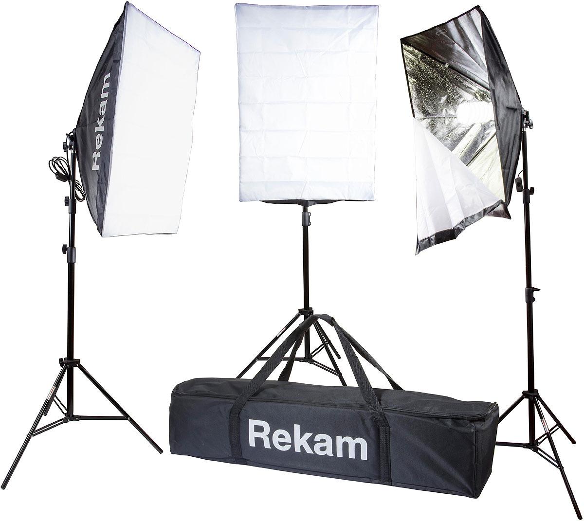 Комплект флуоресцентных осветителей Rekam CL-465-FL3-SB Kit & CL-465-FL3-SB Kit, Black комплект флуоресцентных осветителей rekam cl 435 fl3 sb boom kit
