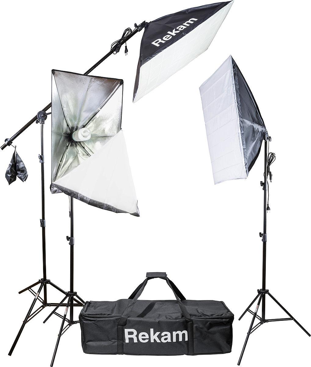 Комплект флуоресцентных осветителей Rekam CL-435-FL3-SB Boom Kit & CL-435-FL3-SB B Kit, Black