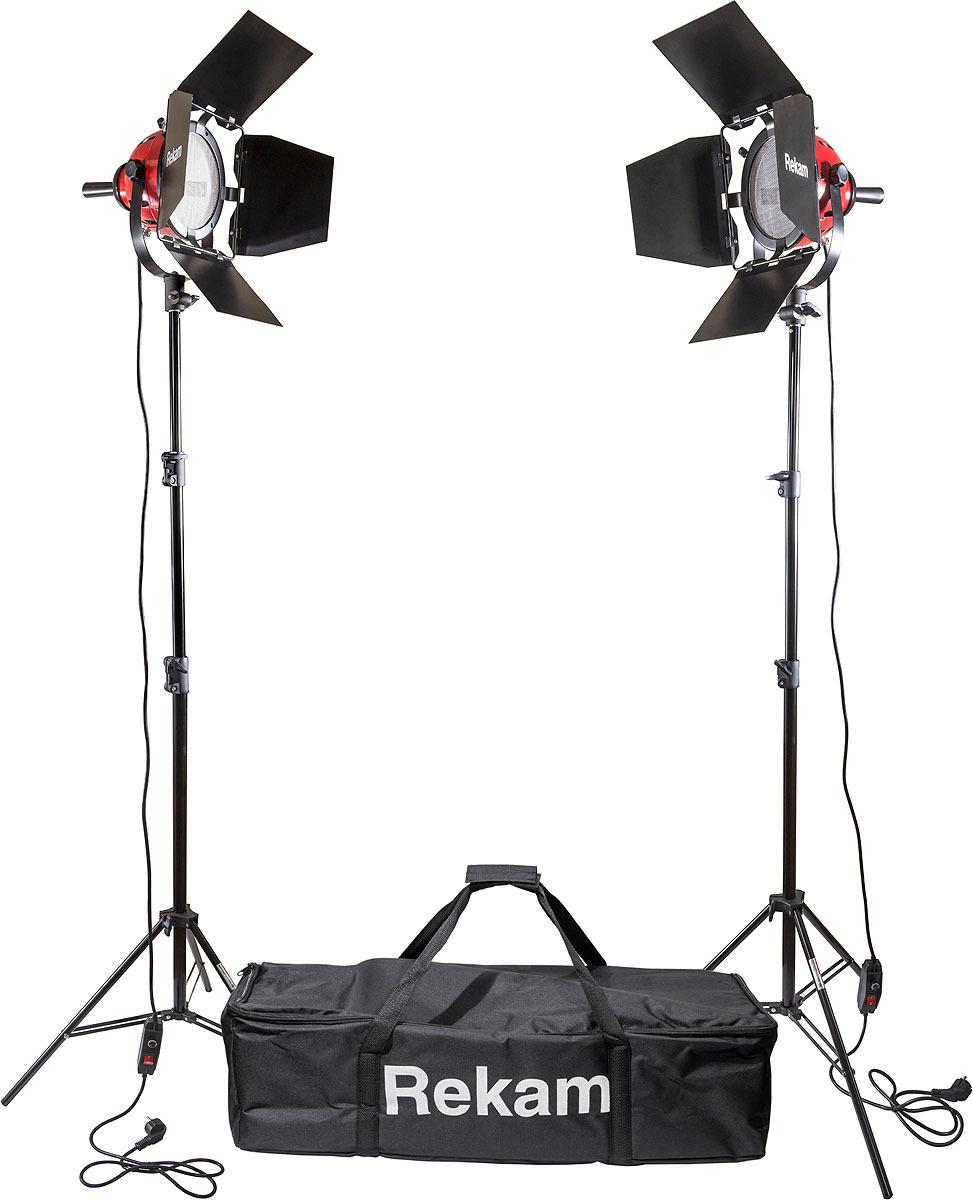 Комплект галогенных осветителей Rekam HL-1600W Kit, Black комплект флуоресцентных осветителей rekam cl 435 fl3 sb boom kit