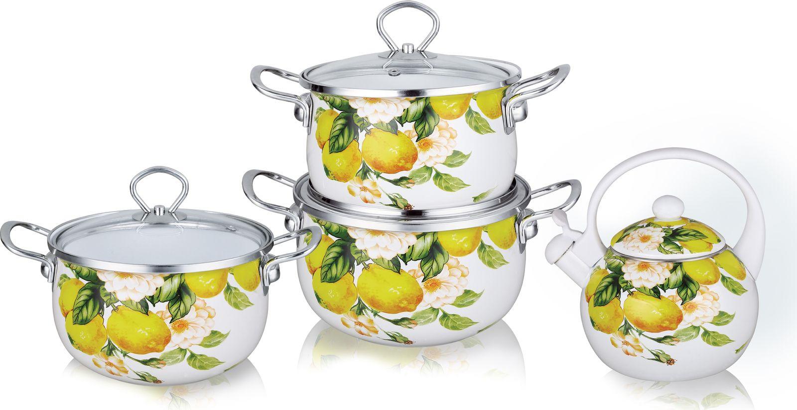 Набор посуды для приготовления Kelli KL-4446, с крышками, 7 предметов все цены