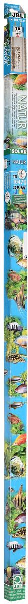 Лампа люминесцентная JBL Solar Natur, полного солнечного спектра, для пресноводных аквариумов, Т8, 38 Вт, 9000 К