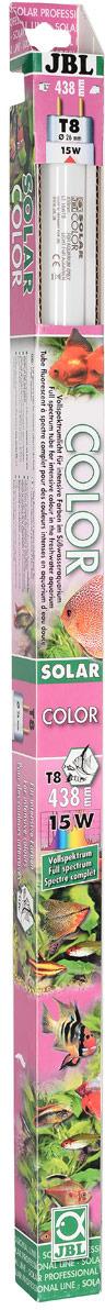 Лампа люминесцентная JBL Solar Color, полного спектра, для интенсивного цвета в пресноводных аквариумах, Т8, 15 Вт лампа люминесцентная dennerle color plus т8 58 вт длина 150 см