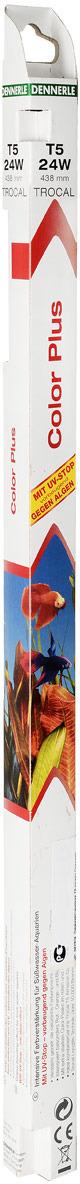 Лампа люминесцентная Dennerle Color Plus, Т5, 24 Вт, длина 43,8 см лампа осмотровая люминесцентная 220в