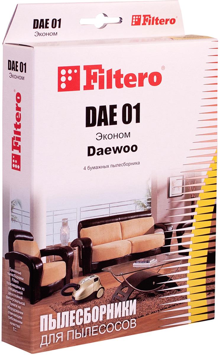Мешок-пылесборник Filtero DAE 01 Эконом, для Daewoo, Polar, бумажный, 4 шт