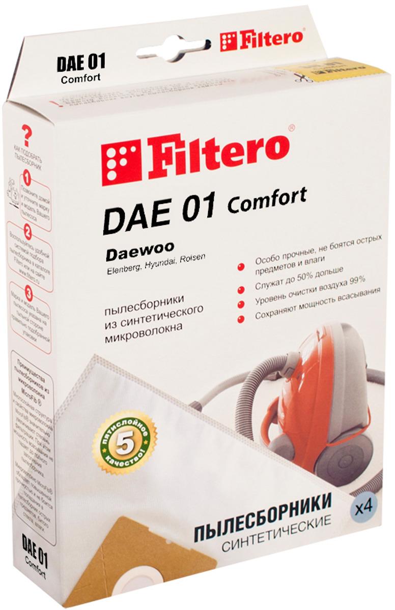 Мешок-пылесборник Filtero DAE 01 Comfort, для Daewoo, Polar, синтетический, 4 шт