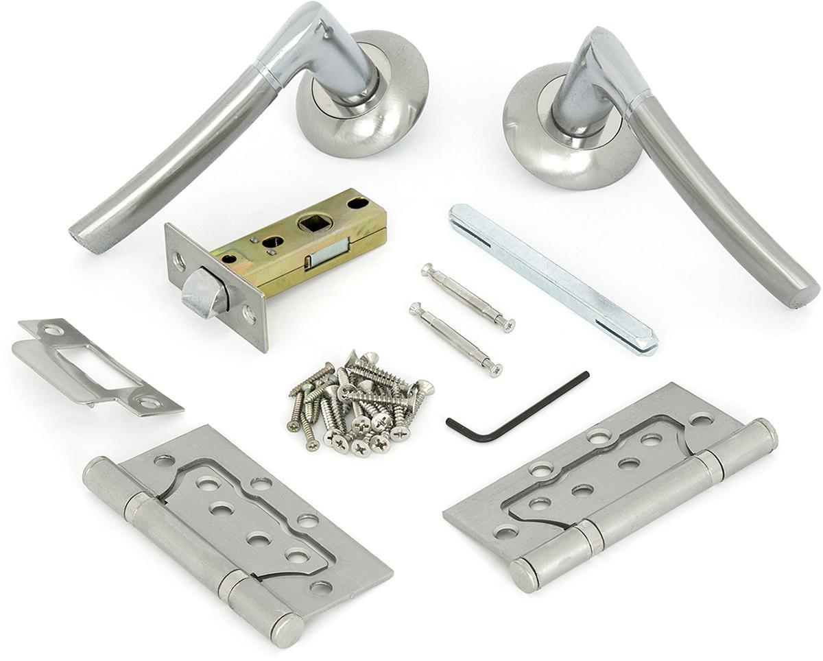 Комплект для двери Фабрика замков, цвет: серебристый. СТ-00000099 комплект для двери фабрика замков ст 00000100