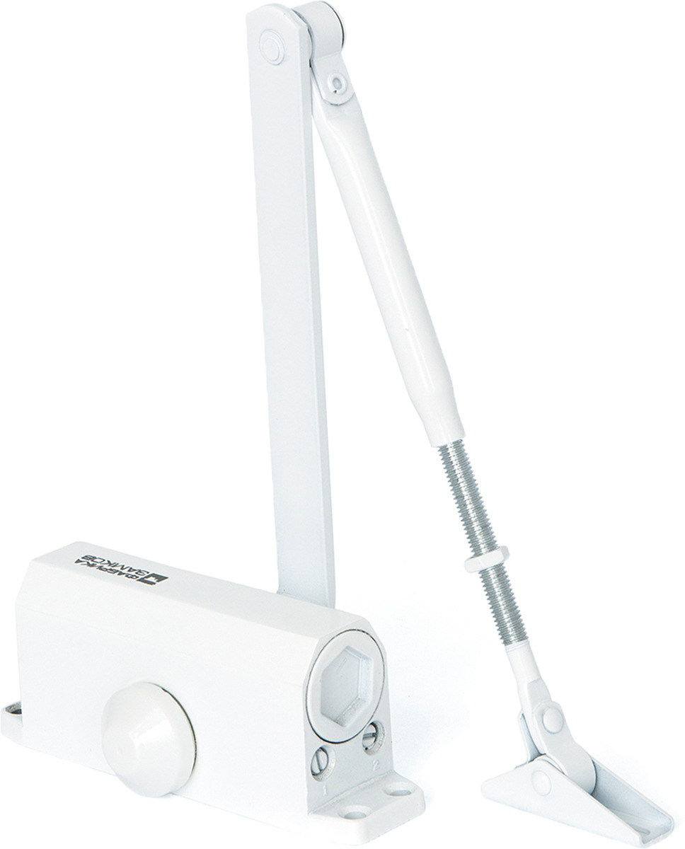 Доводчик дверной Фабрика замков, цвет: белый. СТ-00000121 дверной доводчик dorf цвет белый 45 кг