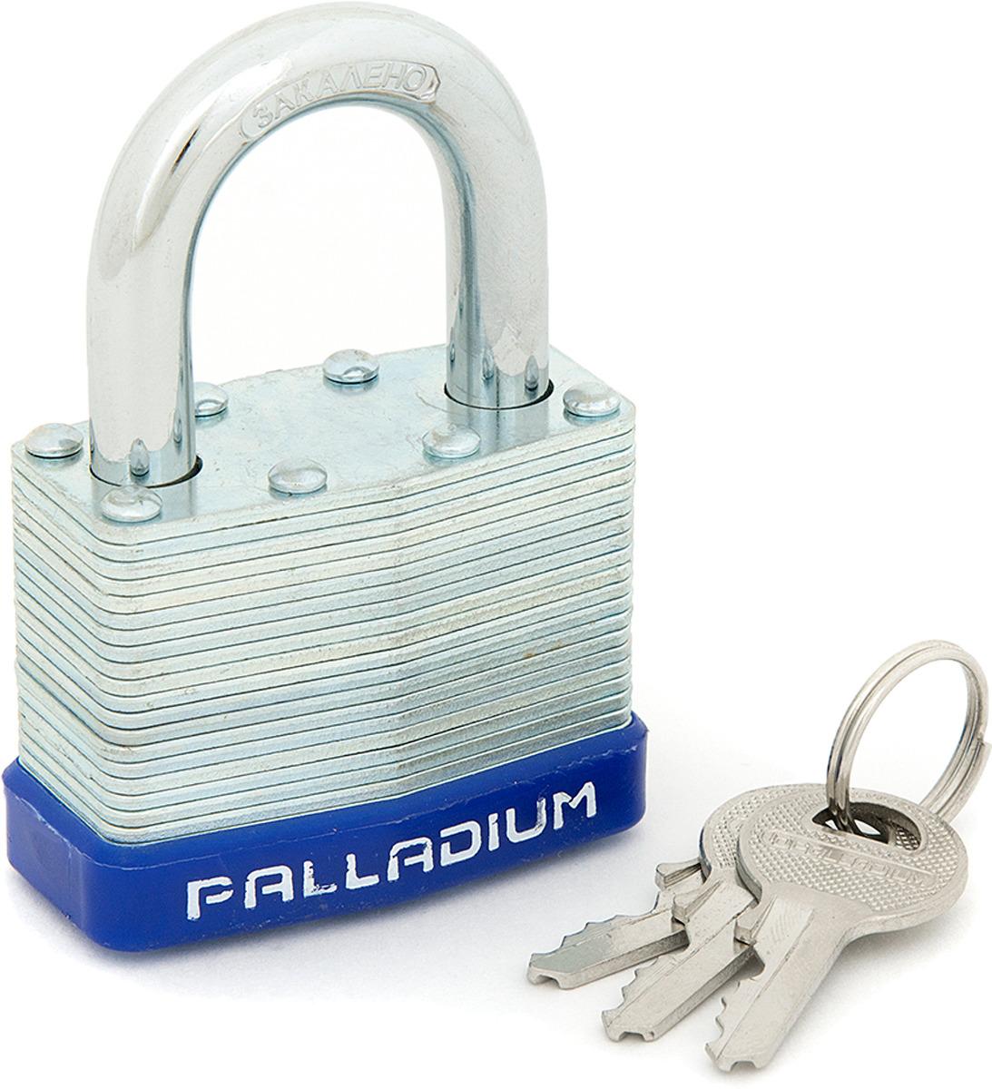 Замок навесной Palladium, цвет: серый металлик. 00009294 замок навесной palladium цвет синий 00010101