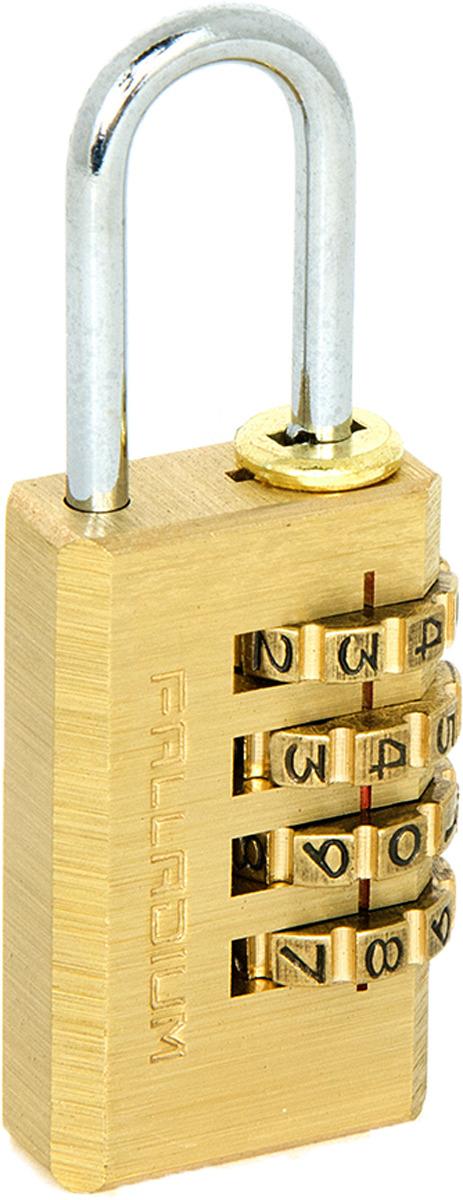 Замок навесной Palladium, цвет: желтый. 00009307 замок навесной onguard сталь 35х42мм кодовый