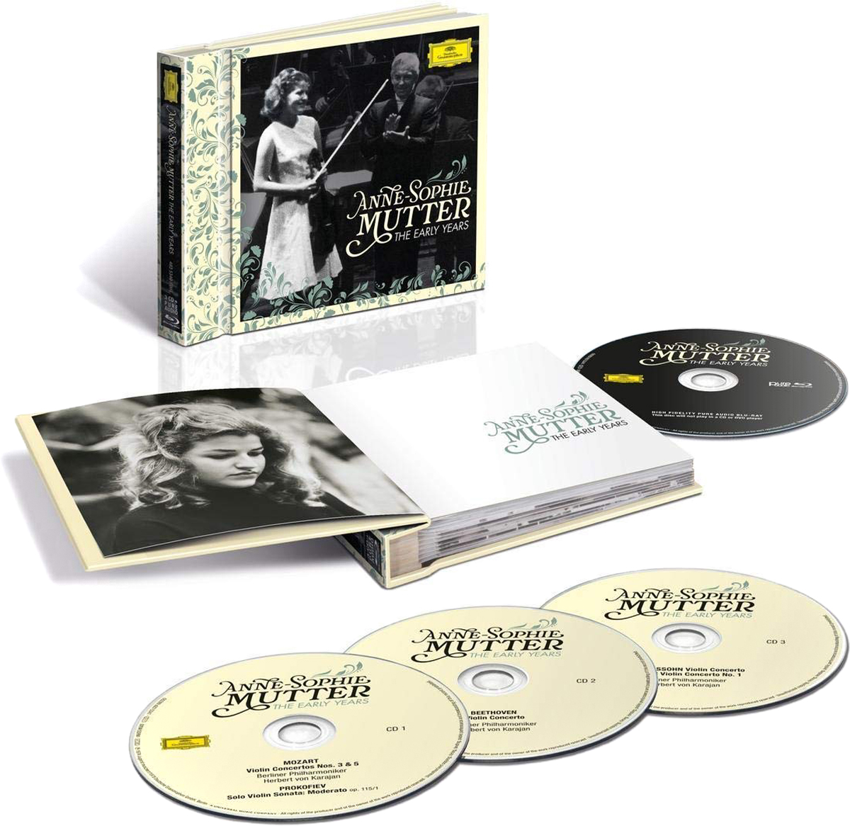 Анна-Софи Муттер Anne-Sophie Mutter. The Early Years (3 CD + Blu-ray) анна софи муттер anne sophie mutter mendelssohn cd dvd
