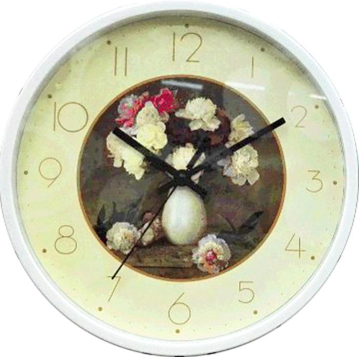 Настенные часы Irit IR-633 Букет пионов, кварцевые, диаметр 25 см одеяло дачное букет пионов