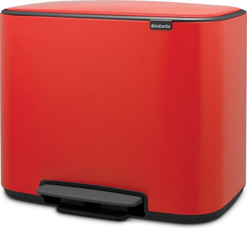 Бак мусорный Brabantia Bo Pedal Bin, с педалью, цвет: красный, 11+23 л. 121166121166Бесшумный – плавное закрывание крышки и необыкновенно мягкий ход педали.Не пропускает запах – плотно прилегающая крышка.Экономия места – удобно устанавливается вплотную к стене или в углу.Крышка удобно фиксируется в открытом положении специальным переключателем.2 съемных внутренних ведра – идеальное решение для раздельного сбора домашних отходов.Удобная очистка – съемное внутреннее ведро из пластика.Отличная устойчивость и защита пола от повреждения – нескользящее основание.Бесплатные упаковки мешков для мусора Brabantia PerfectFit (размеры X и J) – удобная замена и всегда опрятный вид.Бронзовый сертификат Cradle to Cradle.Бак подлежит вторичной переработке на 98 %, упаковка и внутренние ведра на 100%.