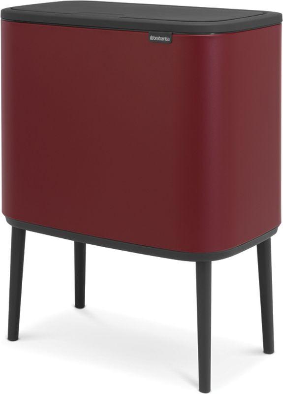 Бак мусорный Brabantia Bo Touch Bin, с эффектом минерального напыления, цвет: бордовый, 11+23 л. 316340316340Крышка бесшумно открывается легким касанием – система Soft-Touch.Экономия места – удобно устанавливается вплотную к стене или в углу.2 съемных внутренних ведра – идеальное решение для раздельного сбора домашних отходов. Идеальное решение для сбора объемного мусора – крышка фиксируется в открытом положении.Оптимальная высота – забота о Вашей спине и удобная очистка пола.Удобная очистка – съемные внутренние ведра из пластика.Отличная устойчивость и защита пола от повреждения – регулируемые по высоте ножки с нескользящим основанием.Бесплатные упаковки мешков для мусора Brabantia PerfectFit (размеры X и J) – удобная замена и всегда опрятный вид.Легко собирается – защелкивающиеся ножки, инструкция в комплекте.Бронзовый сертификат Cradle to Cradle.
