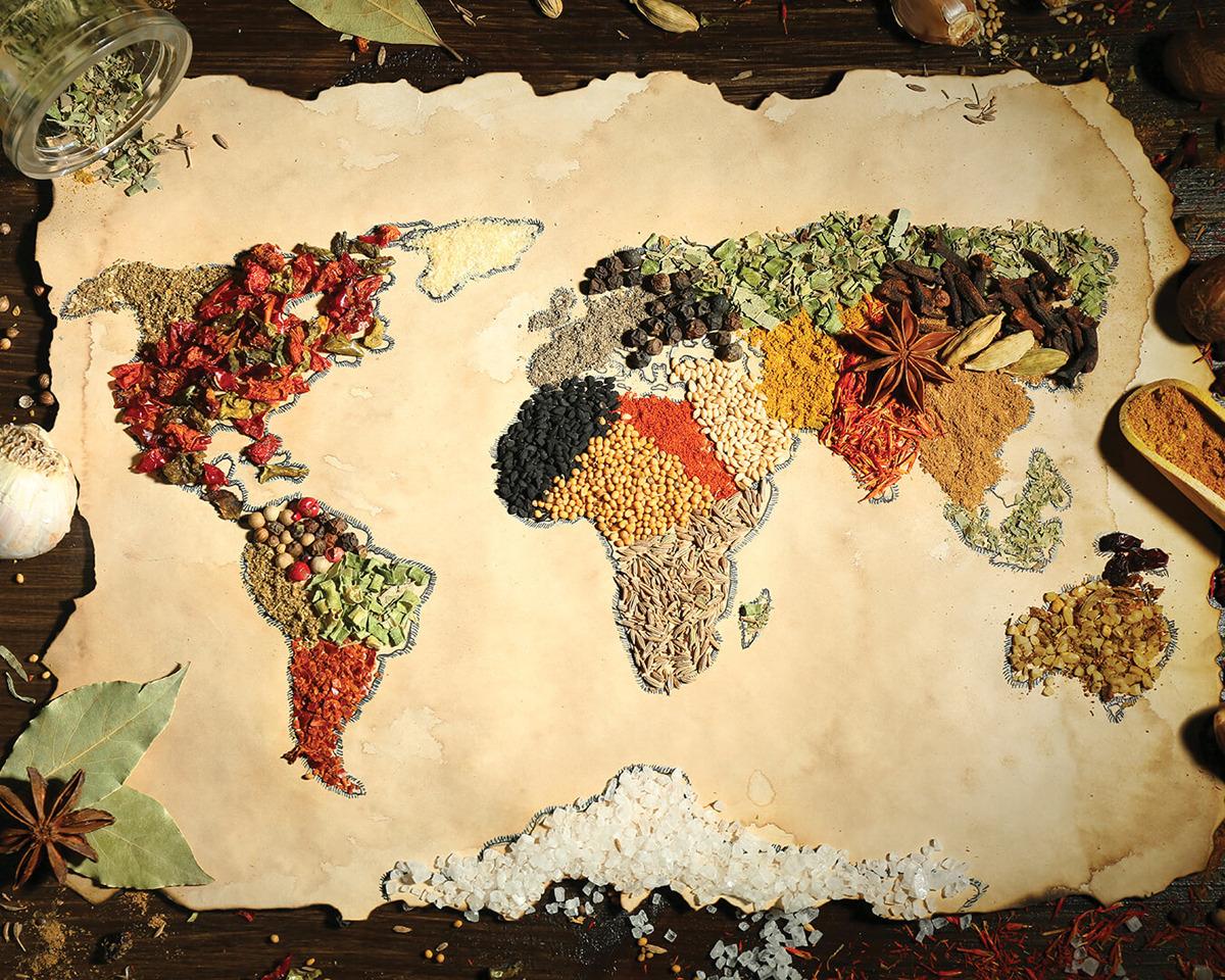 Картина на стекле Postermarket Карта мира, 40 х 50 см цена