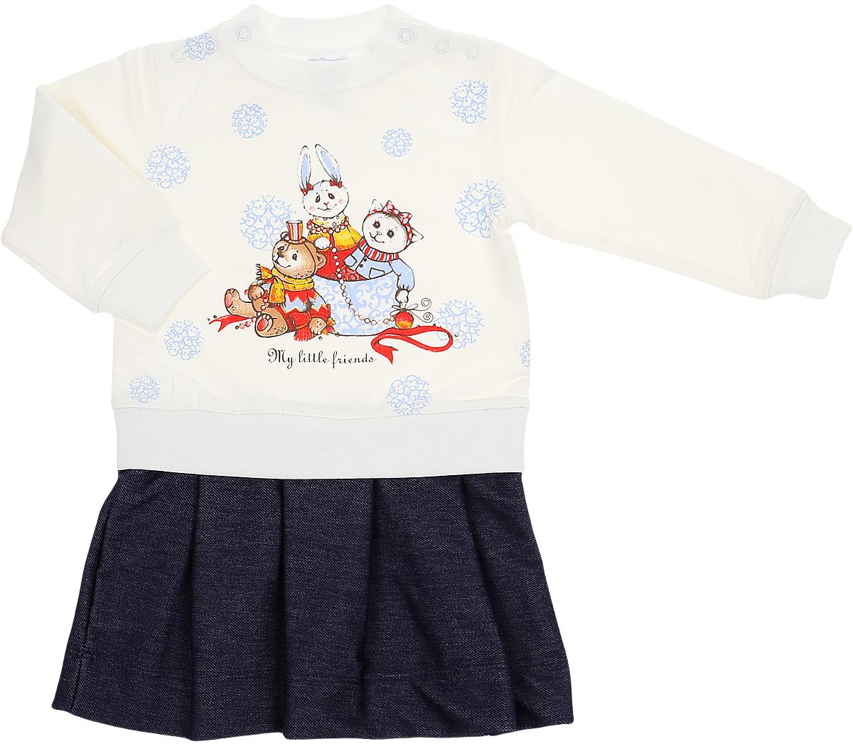 Фото - Платье Мамуляндия Зимние узоры боди для девочки мамуляндия зимние узоры цвет молочный 18 1206 размер 62