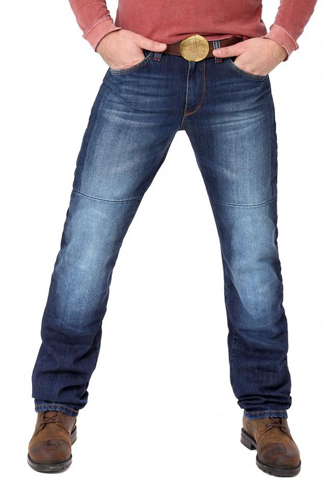 Мотоджинсы мужские Starks Spider Stretch Warp, цвет: синий. Размер S/M